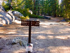 Trail Sign to Clouds Rest (Lost in Flickrama) Tags: yosemite nationalpark hiking backpacking adventure johnmuirtrail wilderness granite rocks pinetrees california