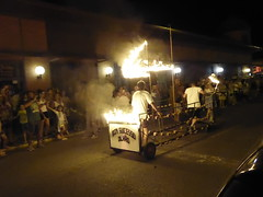 A burning Bom Sucesso, Olho (cyclingshepherd) Tags: 2016 august agosto portugal algarve olhao olho noitesdelevante noites levante satori fire flames bomsucesso boat barco mercado avenida parade burning circus aflame cyclingshepherd