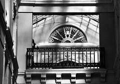 12 - Nantes Passage Pommeray (melina1965) Tags: pays de loire loireatlantique nantes juillet july 2016 nikon d80 noiretblanc blackandwhite bw sculpture sculptures fentre fentres window windows balcon balcons balcony balconies