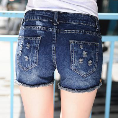 Wilde Cowgirl Shorts gestellten Größe schlank Loch Kanten Koreanerinnen lose Haut Hotpants Boom im Sommer Student Hose