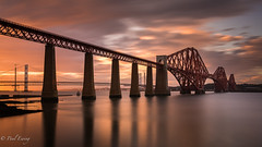 Just a Bridge (Paul S Ewing) Tags: sunset forthrailbridge firth forth southqueensferry scotland uk longexposure red landscape seascape