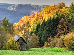 Hay Sheds of Murg Valley 11 (MJWoerner49) Tags: blackforest hut murgtal murg murgvalley northernblackforest gernsbach reichental forbach gausbach barn shed hay haybarn hayshed autumn