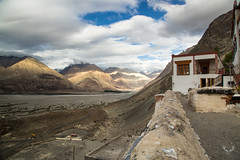 View from Diskit Monstery in the evening light (SaiKiranKanuri) Tags: lehtrip korakoram himalayas shyok nubra diskit monastery evening sunset monsoons rain clouds valley