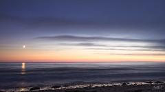 la lune NKCEP LM+35 1003319_DxO (mich53 - thank you for your comments and 3M views!) Tags: moon lune beach reflections reflets mar plage nuit night coastling vacances 2016 pose poselongue longexposure leicamtype240 summiluxm11435asph normandie normandy manche tlmtre beaut