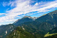Paraglide view! [Explored 15.09.2016] (Enrique EKOGA) Tags: slovenia slovenie slovenija uppercarniola triglavnationalpark landscape mountains hills clouds sky bluesky paraglide view green trees nature travel trzic alps julianalps nikon d800e glide gliding fly explore