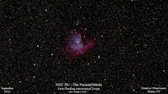 NGC281_PacmanNebula_Sept2016_HomCavObservatory (homcavobservatory) Tags: homcav observatory ngc 281 emission nebula pacman h ii astronomy astrophotography orion starshoot autoguider refractor