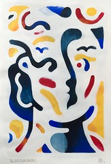 EAU DE SUÉE DES NUES ÂGES. Acrylic on canvas. 70x100cm. 2016