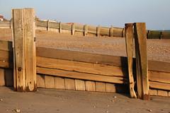 Damaged Groyne (SHayling2001) Tags: hayling beach eastoke hampshire groyne sea