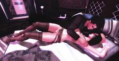 Last Breath of My Heart (Suan Yootz) Tags: passion sensual secondlife kiss romantic love black erotic embrace