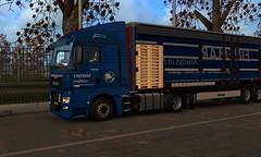 man tgx euro 6 ets2 (trucker on the road) Tags: krone trailer