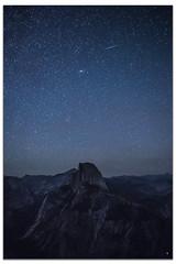 Stars over Half Dome (Rain Man Show) Tags: yosemitenationalpark halfdome stars shootingstar night nightphotography sky california glacierpoint meteor