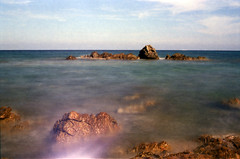 Film is not dead :D (Claudio Taras) Tags: claudio contrasto canona1 taras sardegna mare ndx1000 f16 24mm 35mmfilm color filmisnotdead filmpassion nd3 nd cielo acqua litorale bagnasciuga spiaggia