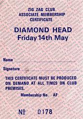 Diamond Head 14.5.82 (1978-1987) Tags: concerttickets diamondhead heavymetal nwobhm