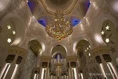 Abu Dhabi (Rolandito.) Tags: abu dhabi uae vae united arab emirates vereinigte arabische emirate sheikh zayed mosque moschee scheich interior indoor