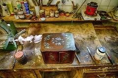 Precious (orkomedix) Tags: precious box workbench hdr canon 6d 24105l indoor workshop table light