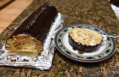 Slice of Almond Heaven! (ineedathis,The older I get the more fun I have....) Tags: almondlog    pastry dessert baking sweet nikond750    coverture darkchocolate semisweetchocolate