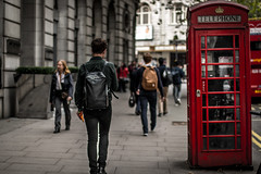 Walking (StefanCosta) Tags: london england walking look boy red cab telephone canon canon70d people city travelling fashion architecture colours