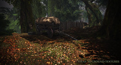 New 3D Ground Texture - Autumn Dry Leaves (Vita Camino) Tags: secondlife giardini vita caminosim autumn fall slur visit rent location rustic cozy gacha 8f8 applefall terrain texture