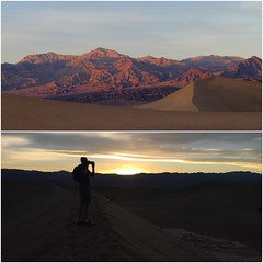 Take a last shot before sun go down (daveynin) Tags: nps desert california silhouette sunset mountains