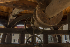 wheels within wheels (stevefge) Tags: krakow poland tyniec cogs wheel well wooden monastery reflectyourworld