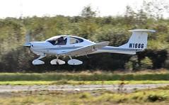 N166G (goweravig) Tags: n166g diamond da40 diamondstar visiting aircraft swansea wales uk swanseaairport