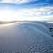 the beautiful white sand dunes