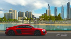 2016 Audi R8 V10 Plus (Kevin_Michaels) Tags: forza horizon 3 skyline 2016 city forzatography xbox one red audi r8 v10