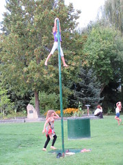 Made it! (jamica1) Tags: salmon arm shuswap bc british columbia canada children playing pole