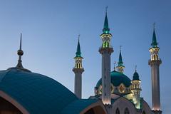 Qolrif Mosque, Kazan Kremlin (Oleg.A) Tags: qolrifmosque autumn sunset street twilight kazankremlin city kazan russia evening tatarstan oldtown qolrifmosque town  respublikatatarstan ru