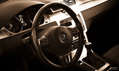VW Passat CC interia (>>Marko<<) Tags: car volkswagen vw passat cc duotone suomi finland canon auto vehicle detail interior wheel dashboard