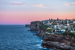 Cliffside (silardtoth) Tags: waves australia sydney aspect 23 bay boat building cliffs clouds dawn houses new south wales ocean portfolio architecture sea sky sunset tower urban water