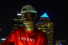 Ardent. August 2016 (tarell_sallie) Tags: black blackperson night citylife tampa florida hillsborough hillsboroughcounty tampabay canon canont3i citylights usa unitedstates america unitedstatesofamerica august 2016 copyright lightroom macbook red ardent shirt style snapback hat skyline skyscraper skyscapers pnc suntrust white central centralflorida