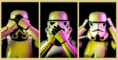 See No Evil, Speak No Evil, Hear No Evil (BrotherSnare Photography) Tags: star wars storm troopers cheeky monkeys pop art portrait