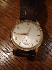 "14K GOLD HAMILTON WRISTWATCH. • <a style=""font-size:0.8em;"" href=""http://www.flickr.com/photos/51721355@N02/30171908502/"" target=""_blank"">View on Flickr</a>"