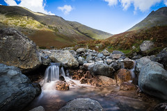 Copper Falls (manphibian) Tags: kirk fell great gable wasdale head lake district west england countryside waterfall stream river beck copper water cascade sony sonya7 long exposure zeiss loxia 21mm