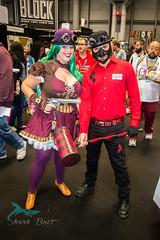 (barringtonsimpson) Tags: newyork newyorkcity javistcenter manhattan nycc nycc2016 cosplay comics art comiccon comiccon2016 fantasyart dc dccomics harelyquinn deathstroke genderbender
