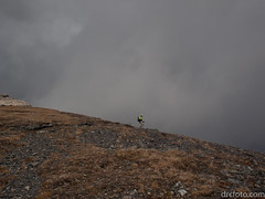 Ron descending to Burstall Pass (David R. Crowe) Tags: landscape mountain nature outdooractivities scrambling kananaskis alberta canada