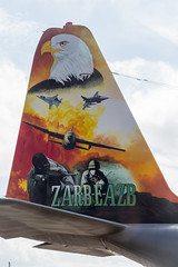 Pakistan AF Lockheed C-130E Hercules 144 tail (starboard side) (Hugh Dodson) Tags: friday riat riat2016 pakistanaf lockheed c130e hercules 144 tail specialmarks