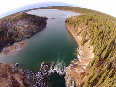 The Yellowknife River (Fish as art) Tags: aerialphotography yellowkniferiver ciscoes yellowknifeliving northwestterritories northern canada drone
