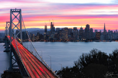 Candy Land (redblur) Tags: baybridge bridge bayarea baywater sky sunset color storm cityscape transamerica sanfrancisco sf treasureisland yerbabuena longexposure nikon fineart