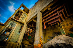 Hi Mom! (yeahwotever) Tags: apocalypse graffiti abandoned bunker concrete disused early lime mess oregon silo states structure sunrise tag tower usa hopper