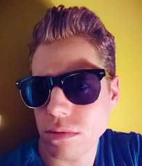 Yellow Blue (John.Johnson.15) Tags: yellow blue selfie young male man sunglasses sun bright primary colors portrait modern american cool attitude attractive eyes blond hair blonde
