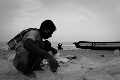 Marina Beach, Chennai, 2016 (bmahesh) Tags: marinabeach chennai tamilnadu india people beach life fishermen boat ricohgr wwwmaheshbcom