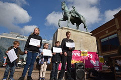 15/10/16 Stand Up to Racism Coventry campaign to #EnactAlfDubsAmendment #LetThemIn (Geoff Dexter) Tags: standuptoracism coventry alfdubs children refugees protest child rights calais solidarity lady godiva anti racism antiracism humanrights alfdubsamenndment