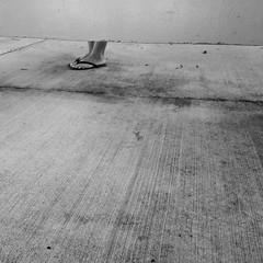Anxiety (Seb.Seabass) Tags: black white blackandwhite feet outdoor hawaii manoa minimal minimalism flip flop flipflop slipper slippa contrast art iphone honolulu monochrome exam season texture