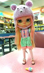 Rosita (Motor City Dolly) Tags: cute blythe mint pink custom doll pouty customized ice cream motor city dolly ooak