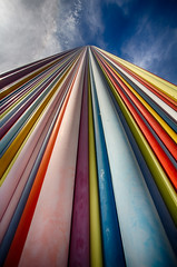 Highway to heaven II (Adrien Marc) Tags: courbevoie france fr ladfense lemoretti moretti tower perspective colorful rainbow hdr