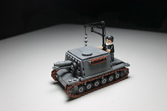 Sturminfanteriegeschtz ([C]oolcustomguy) Tags: lego brickarms brick arms wwii sturminfanteriegeschtz tank german commander grey black brown