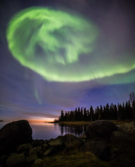 Aurorama vol.3 (Leksa87) Tags: canon eos 6d landscape panorama vertical aurora northern lights night sky sea shore