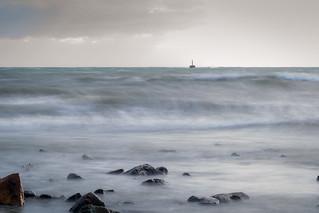 波が高かった夕方ーEvening waves
